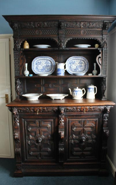A 19th Century Solid Oak Carved Dresser
