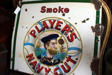 Players Enamel Sign