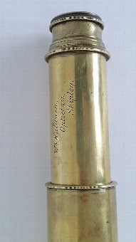 Antique 19thC Brass Telescope