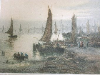 Antique Etching E.H.Barlow