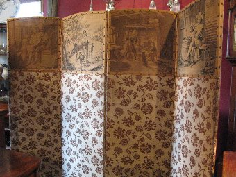 Antique French Folding Dressing Screen