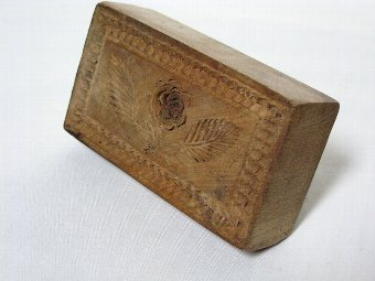 Antique 19th Century butter stamp-print-Mold