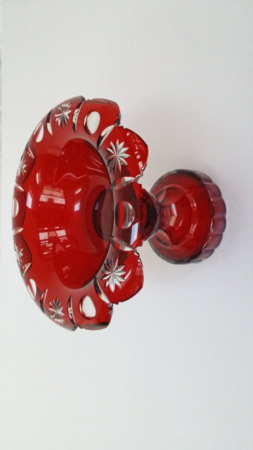 Ruby/Cranbery Cut Glass Comport
