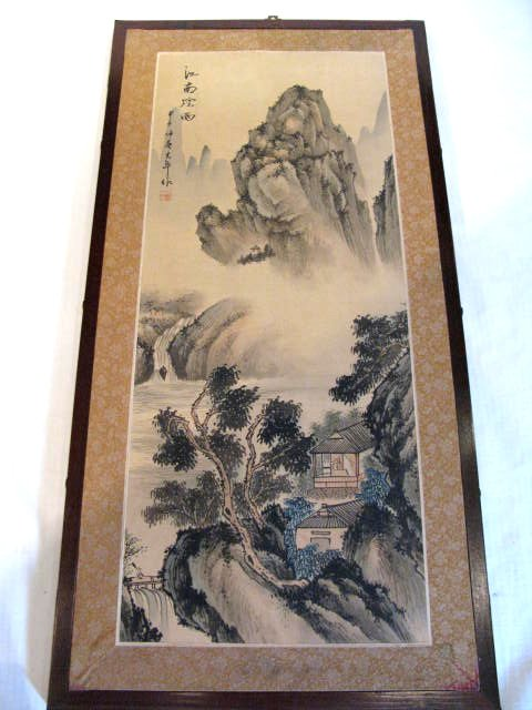 Large Chinese Silk Painting