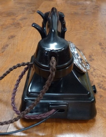Antique 1947 Black 232 Bakelite Telephone With Drawer, Converted