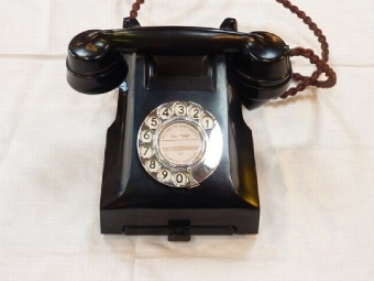 1950's Bakelite Telephone with Drawer, Model 332F