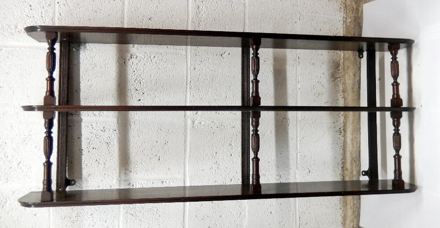 Victorian Mahogany Open Wall Shelf