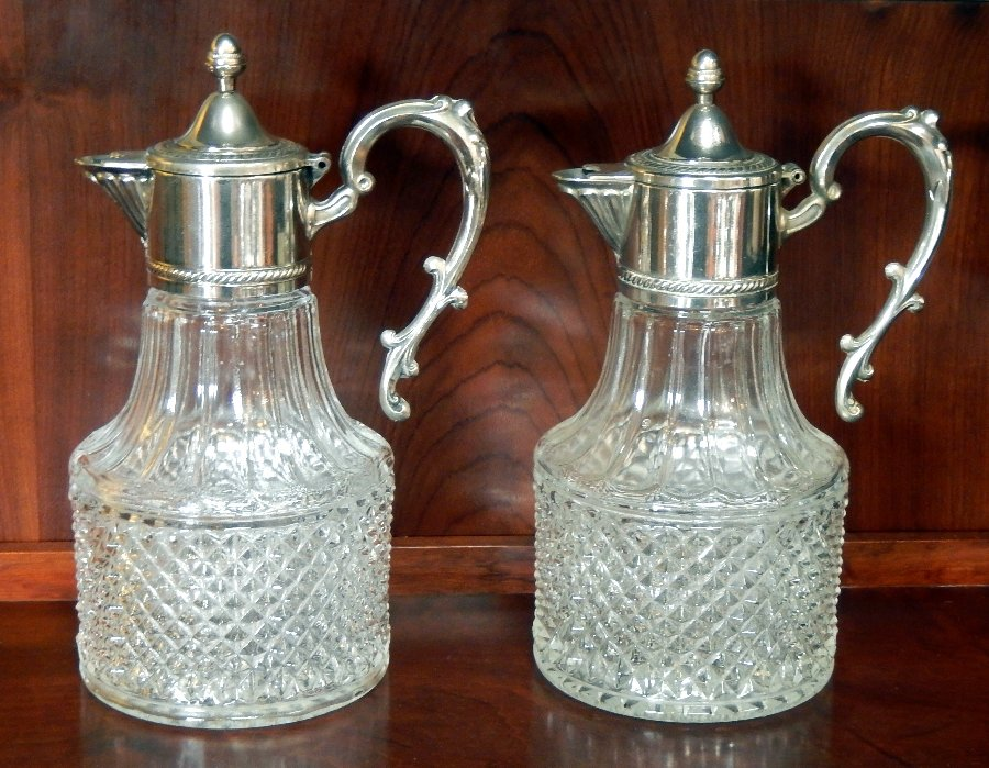 Pair of Edwardian Claret Jugs