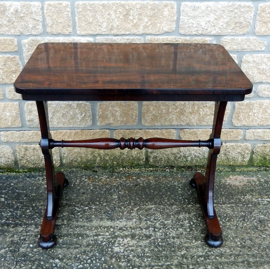 Superb Georgian Rosewood Side Table, C1820