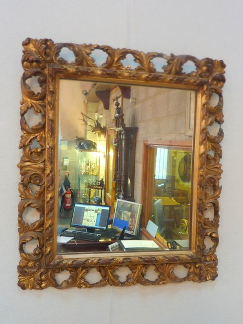 Antique Gilt Wood and Gesso Mirror c1900