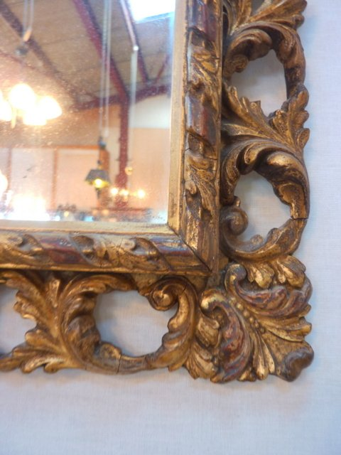 Antique Antique Gilt Wood and Gesso Mirror c1900