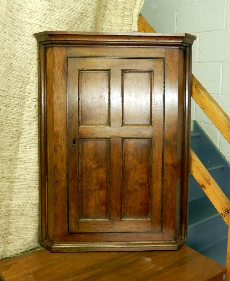 Antique Oak Corner Cupboard, Circa 1900