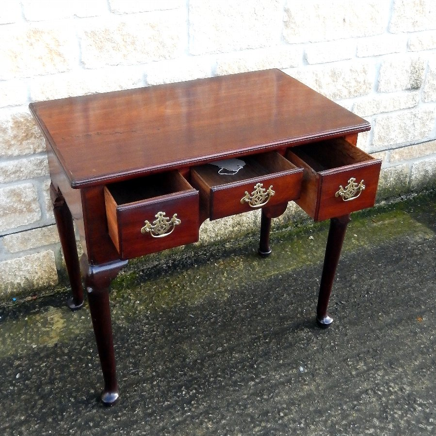 Antique Georgian Mahogany Lowboy, Circa 1780