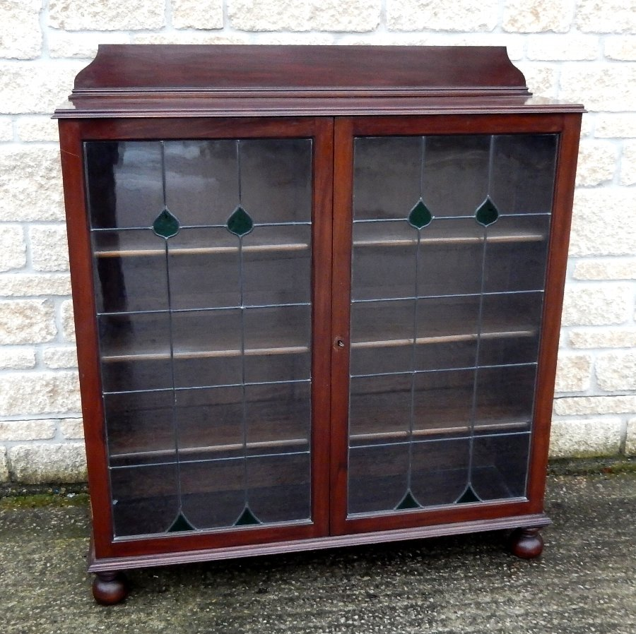 Arts and Crafts Glazed Bookcase or Display Cabinet