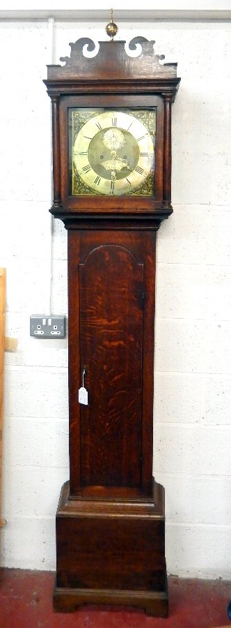 George III English Oak Long Case Clock Circa 1780