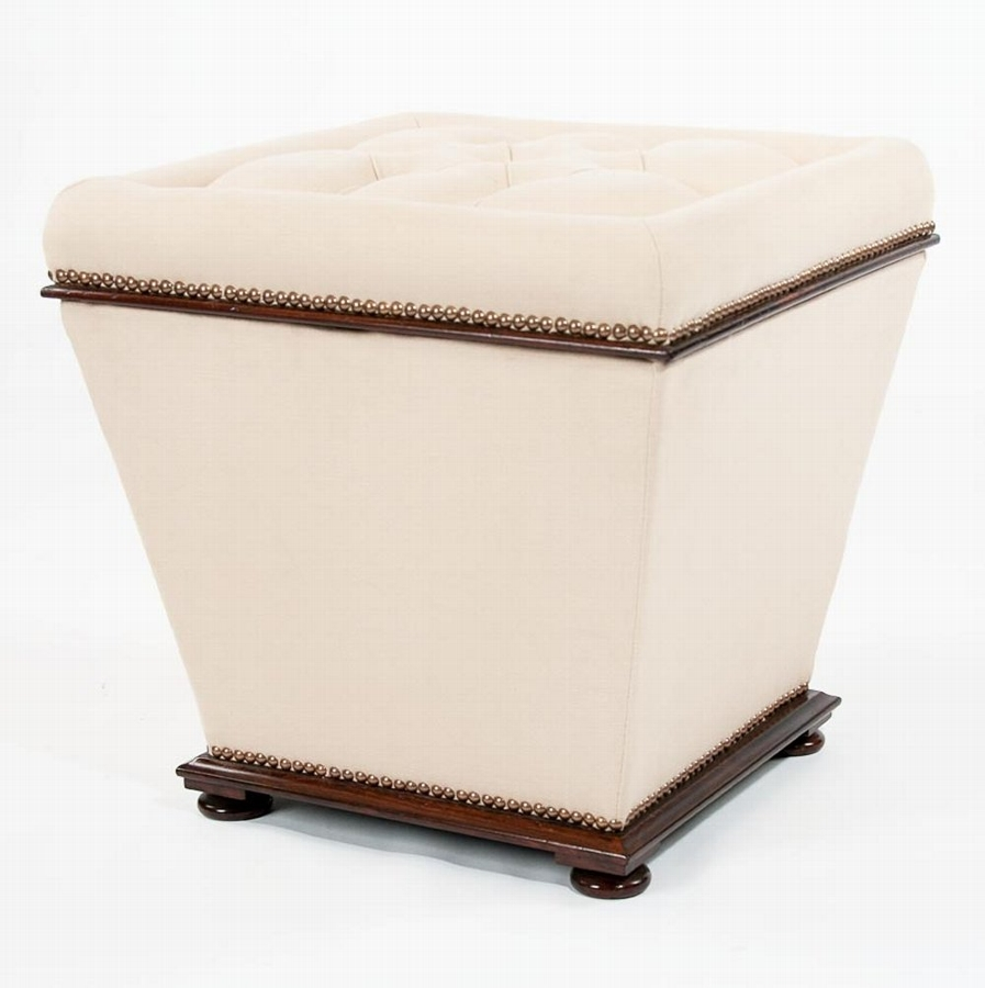 William IV Rosewood Upholstered Ottoman