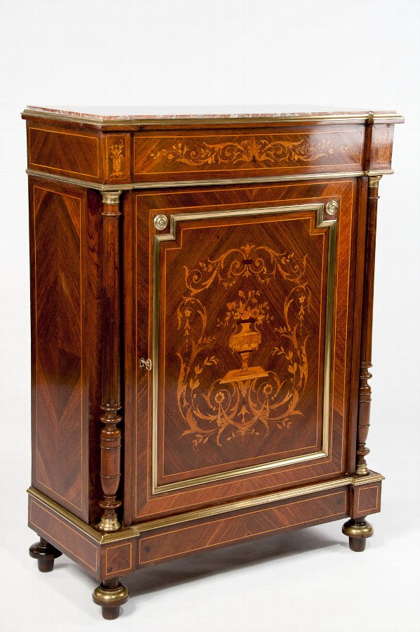 19th Century French Inlaid Pier Cabinet