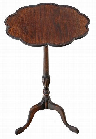 Antique Georgian revival mahogany wine table side 4224