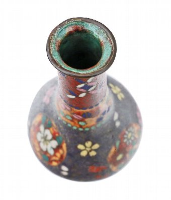 Antique 19th Century Japanese oriental vase cloisonne 4347d