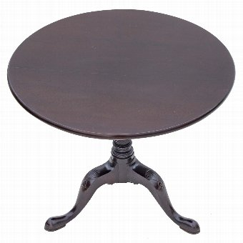 Antique 18C Georgian mahogany tilt top side supper table 2910