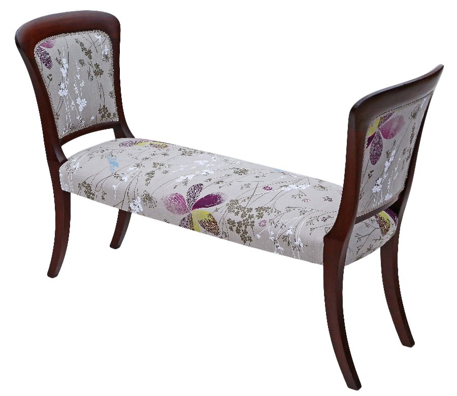 Mahogany small sofa window seat Victorian and later 4354