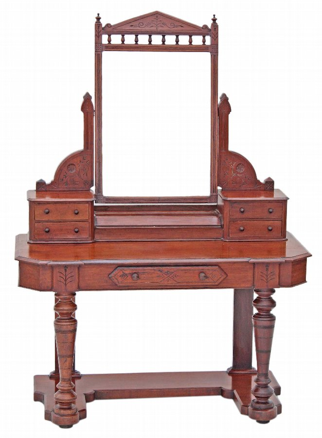 19C Victorian mahogany walnut Duchess dressing table 2760