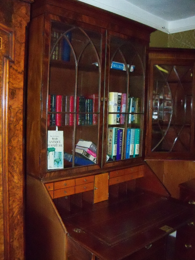 Antique Mahogany Bureau Bookcase