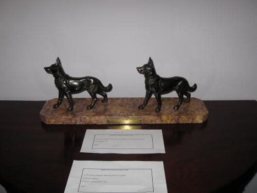 Antique Spelter deco German Shepherd