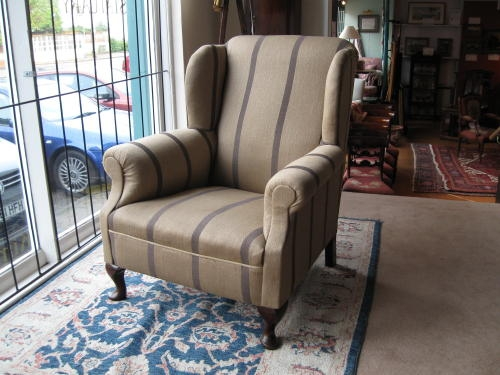 Antique wing armchair