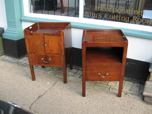 Antique bedside cupboard near pair
