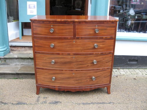 Antique bowfront chest