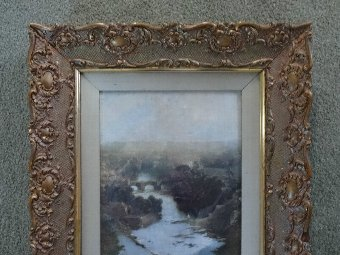 Antique OUTSTANDING ORIGINAL EARLY VICTORIAN 19thc GILT SCROLLED PICTURE | MIRROR FRAME
