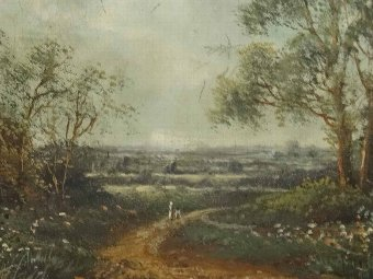 Antique  'Octavius Thomas Clark' (1850-1921) SUPERB ANTIQUE LANDSCAPE OIL PAINTING