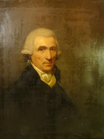 Antique 18thc OIL PORTRAIT OF Thomas Gladstone PRIME MINISTER William Gladstone FAMILY