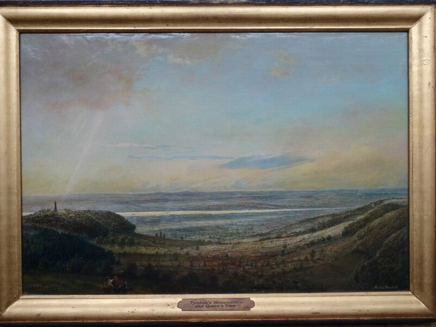 Antique Tyndale's Monument & Queens View, 18thc REVIVAL OIL PAINTING 'Michael Constable'