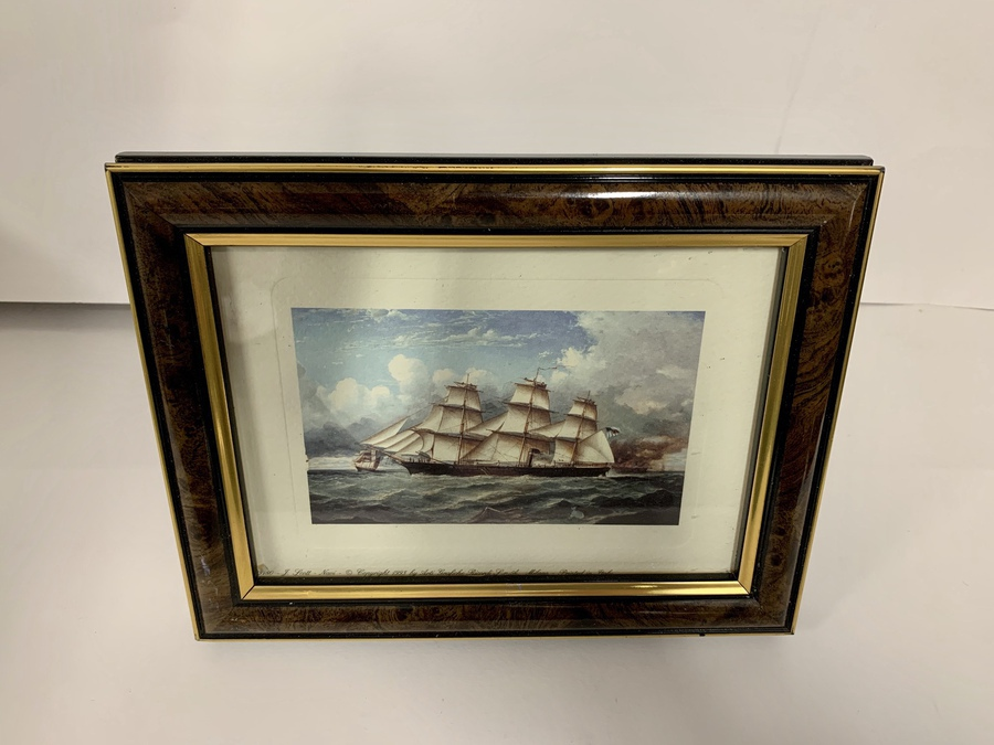 Six Coloured Modern Reproduction Prints, Steam-Assisted Clipper Ships, Circa 1993