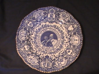 King Edward VII Coalport Coronation Plate 1902