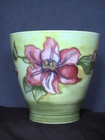 Antique MOORCROFT Clematis Jardiniere / Vase - Signed by Walter Moorcroft