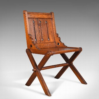 Antique Antique Glastonbury Chair, English, Tudor Revival, Hall Seat, Circa 1880