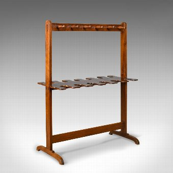 Antique Antique Boot Rack, Welsh, Victorian, Riding Crop Stand, Mahogany, Circa 1890