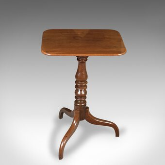 Antique Antique Tilt Top Wine Table, Mahogany, English, Georgian, Early 19th Century