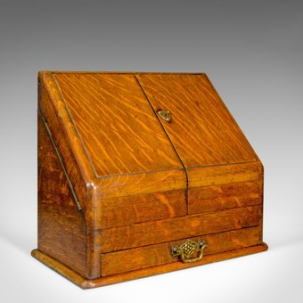 Antique Antique Stationery Cabinet, English, Victorian, Oak, Correspondence Chest c.1900