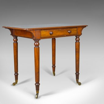 Antique Antique Side Table by Holland and Sons, English, Victorian, Mahogany, Circa 1860