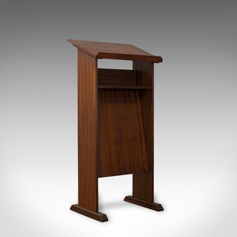 Antique Vintage Lectern, English, Mahogany, Oratory, Music, Stand, Circa 1970