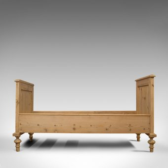 Antique Antique Bed Frame, English, Victorian, Pine, Bedstead, Late 19th Century, C.1900