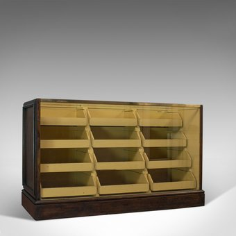 Antique Antique Haberdashery Cabinet, English, Oak, Mahogany, Tiered, Edwardian, C.1910