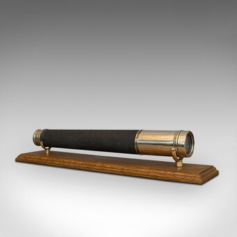 Vintage Telescope, Brass, Officer Of The Watch, Single Draw, Ross London, 1935
