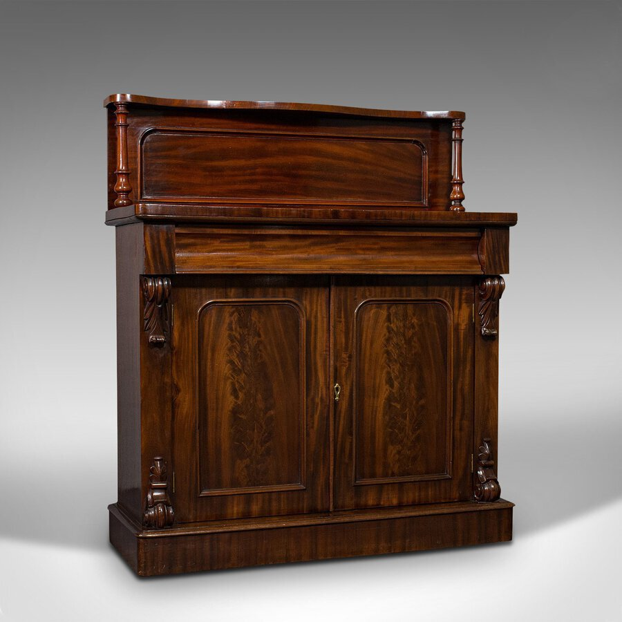 Antique Chiffonier, English, Mahogany, Sideboard, Cabinet, Victorian, Circa 1880