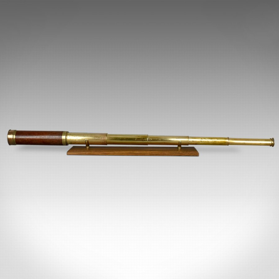 Antique Telescope, Five Draw Terrestrial Refractor, Banks of London Circa 1820