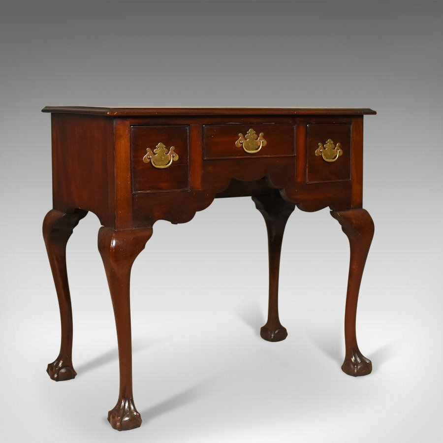 Antique Lowboy, English, Late Victorian, Mahogany Table, Circa 1900